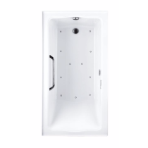 TOTO ABR782L#..N2 Clayton Acrylic Air Bath With LED Lighting And Left Drain