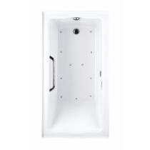 TOTO ABR782L#01Y Clayton Rectangular Acrylic Air Bathtub With Left Drain