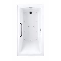 TOTO ABR782L#12Y..3 Clayton Acrylic Air Bathtub With Grab Bar And Left Drain