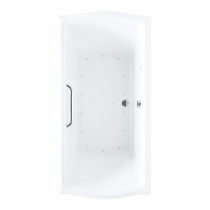 TOTO ABR785T#..N Clayton Acrylic Air Bathtub With Left Blower And Overflow