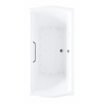 TOTO ABR789S#01Y Acrylic Cotton Air Bathtub With Right Blower And Grab Bar