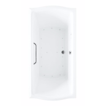TOTO ABR789T#12Y Acrylic Sedona Beige Air Bathtub With Left Blower And Grab Bar