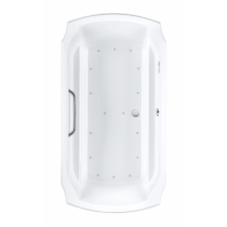 TOTO ABR974T#01Y Guinevere Rectangular Acrylic Air Bathtub With Left Blower