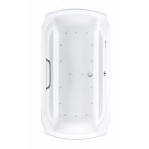 TOTO ABR974T#12Y Guinevere Acrylic Left Blower Air Bathroom Tub With Overflow