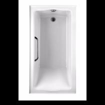 TOTO ABY782Q#01Y..2 Clayton Rectangular Acrylic Soaker Bathtub With Right Drain
