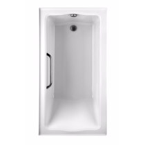 TOTO ABY782Q#12Y..3 Clayton Acrylic Soaking Tub With Right Drain And Three Tiling Flanges