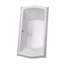 TOTO ABY784N#..N Clayton Rectangular Acrylic Soaker Bathtub With Overflow
