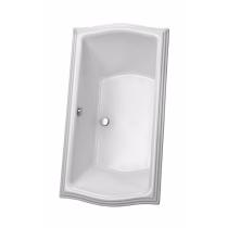 TOTO ABY789N#01Y Clayton Acrylic Soaker Bathroom Tub With Brass Grab Bar