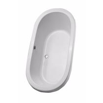 TOTO ABY794N#12Y Nexus Oval Acrylic Soaking Bathtub With Brass Grab Bar