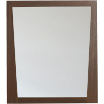 American Imagination AI-1184 Wall Mount Wood Frame Bath Mirror in Wenge