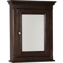 American Imagination AI-238 Birch Wood-Veneer Medicine Cabinet in Walnut