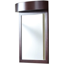 American Imagination AI-338 Transitional Wood-Veneer Mirror in Coffee