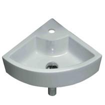 American Imagination AI-696 Wall Mount Unique Vessel In White Color For Single Hole Faucet