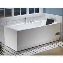 EAGO AM154ETL-L5 5 ft Acrylic White Rectangular Whirlpool Bathtub w Fixtures