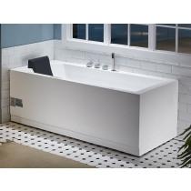 EAGO AM154ETL-R6 6 ft Acrylic White Rectangular Whirlpool Tub With Fixtures