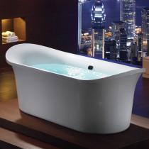 EAGO AM1900  74 3/4 Inch White Free Standing Air Bubble Bathtub