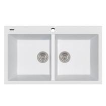 Latoscana AM8620-58UG Double Basin Drop In Granite Kitchen Sink