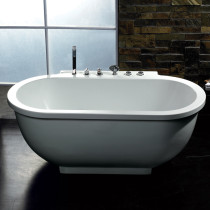 Ariel AM128JDCLZ Free Standing 6 ft Jetted Whirlpool Bath Tub