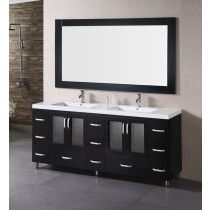 "Design Element B72-DS Stanton 72"" Double Sink Vanity Set in Espresso"