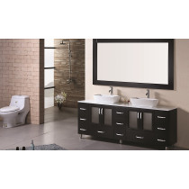 "Design Element B72-VS Stanton 72"" Double Sink Vanity Set in Espresso"