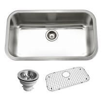 Houzer BSG-3018 Belleo Series Topmount Large Single Bowl Kitchen Sink