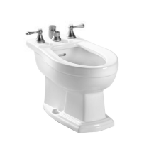 TOTO BT784B Clayton Floor Mounted Elongated Bidet With Vertical Spray