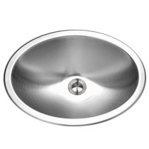 Houzer CHT-1800-1 Opus Series Topmount Stainless Steel Oval Bowl Lavatory Sink