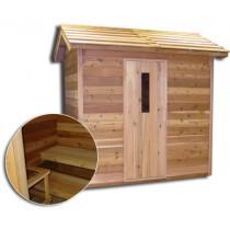 SaunaCore COD6X6 Classic Outdoor Sauna Room For Five