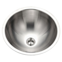 Houzer CRO-1620-1 Opus Series Conical Undermount Stainless Steel Lavatory Sink with Overflow