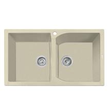 Latoscana CX0862-55UG Granite Double Bowl Drop In Kitchen Sink