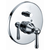 Dawn D2225601C Lever Handle Pressure Balancing Diverter Valve Trim in Chrome