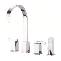 Danze D422044CH Sirius Two Handle Kitchen Faucet with Spray in Chrome