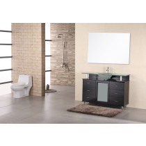 "Design Element DEC015C Huntington 48"" Single Sink Vanity Set in Espresso"