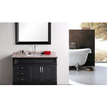 "Design Element DEC059B Hudson 48"" Single Sink Vanity Set in Espresso"