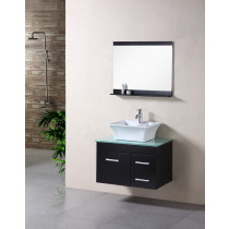 "Design Element DEC1100A-30 Espresso Madrid 30"" Wall Mount Single Vanity Set"