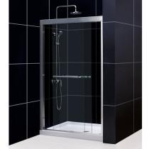 """Dreamline DL-6955C-..CL Duet Sliding Shower Door and 36"""" by 48"""" Shower Base"""