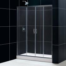 "Dreamline DL-6960L-..CL Visions Shower Door & 30"" by 60"" Base Left Drain"