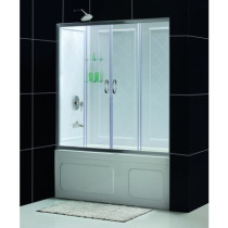 "Dreamline DL-6995-..CL Visions 56 to 60"" Sliding Tub Door and Backwall Kit"