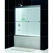 "Dreamline DL-6996-..CL Duet 56 to 59"" Sliding Tub Door and Backwall Kit"
