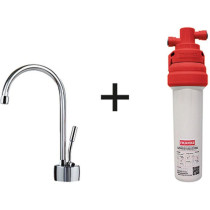 Franke DW7080-100 Ambient Cold Water Filtration Faucet with Filter Canister in Satin Nickel