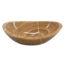 Eden Bath EB_S005BO-P Stone Canoe Single Bowl Sink In Polished Brown Onyx