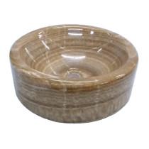 Eden Bath EB_S036BO-P Single Bowl Barrel Vessel Sink In Brown Onyx Polished