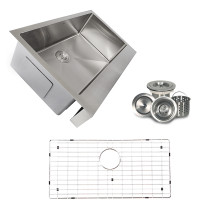 Nantucket EZApron33-5.5 Pro Series Single Bowl Kitchen Sink w/ Apron Front