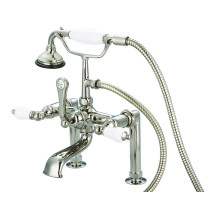 Water Creation F6-0006-05-PL Deck Mount Tub Faucet Polished Nickel Finished