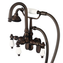 Water Creation F6-0011-03-CL Oil Rubbed Bronze Tub Faucet For Bathroom