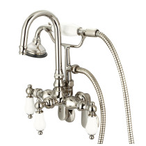 Water Creation F6-0011-05-PL Gooseneck Spout Bathtub Faucet With Handshower