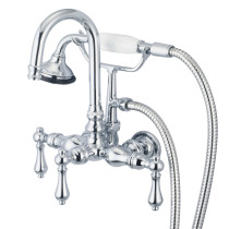 Water Creation F6-0012-01-AL Lever Handle Bath Tub Faucet with Handshower