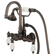 Water Creation F6-0012-03-CL Oil Rubbed Bronze Finish with Hot and Cold Labeled Porcelain Lever, Shown with Metal Lever