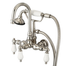 Water Creation F6-0012-05-PL Polished Nickel Tub Faucet With Straight Wall Connector