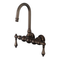 Water Creation F6-0014-03-AL Oil Rubbed Bronze Gooseneck Tub Faucet - Straight Wall Connector